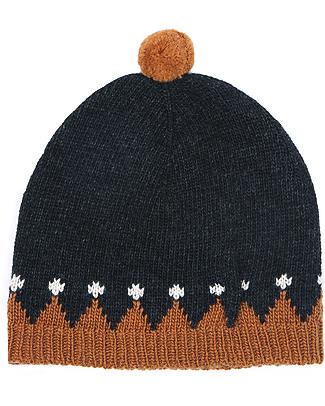 Emile et Ida Beanie Orage, Navy - Wool and cashmere blend Hats