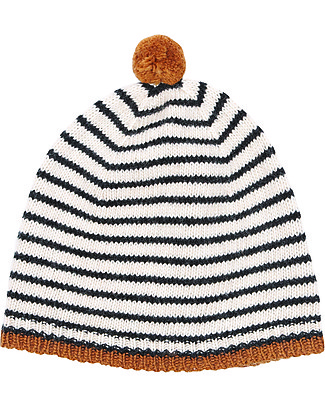 Emile et Ida Beanie Plume, Cream - Wool and cashmere blend Hats