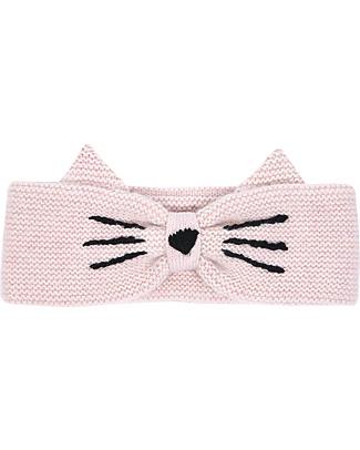 Emile et Ida Cat Wool Headband, Pink - Handmade embroidery! Hats