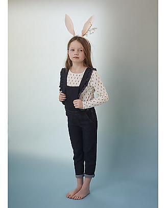 Emile et Ida Daisy Long Sleeved T-Shirt, Ecru - 100% cotton Long Sleeves Tops