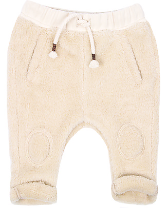 Emile et Ida Fluffy Baby Trouser, Ecru - Extra soft! Trousers