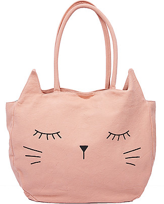 Emile et Ida Girl's Handbag, Kitty+Grenadine - 100% cotton Tote Bags