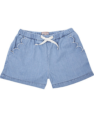 Emile et Ida Girl's Shorts, Chambray – 100% cotton Shorts