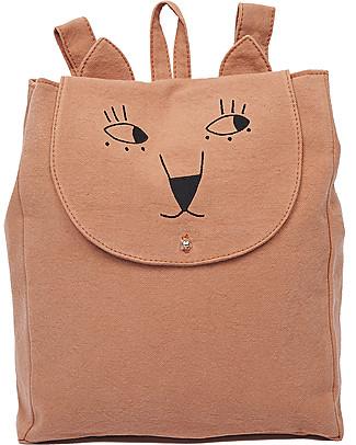 Emile et Ida Kid's Backpack, Brick - 100% cotton Large Backpacks