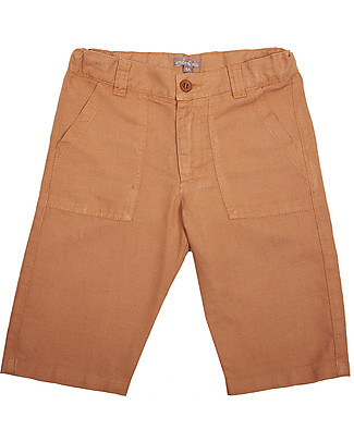 Emile et Ida Linen Bermuda, Light Brown – Comfy and practical Shorts