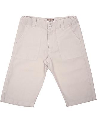 Emile et Ida Linen Bermuda, Light Grey – Comfy and practical Shorts