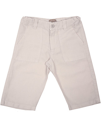 Emile et Ida Linen Bermuda, Light Grey - Comfy and practical Shorts