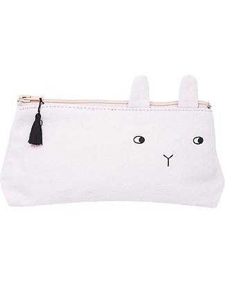 Emile et Ida Panpan Pencil Case, Pale Pink – 100% cotton Makeup Bags & Pouches