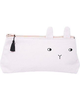 Emile et Ida Panpan Pencil Case, Pale Pink - 100% cotton Makeup Bags & Pouches
