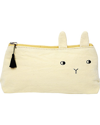 Emile et Ida Panpan Pencil Case, Pale Yellow – 100% cotton Makeup Bags & Pouches