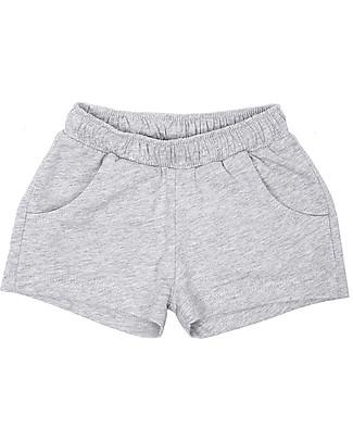 Emile et Ida Sporty Baby Shorts, Grey Melange – 100% cotton Shorts