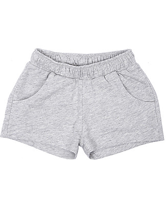 Emile et Ida Sporty Baby Shorts, Grey Melange - 100% cotton Shorts