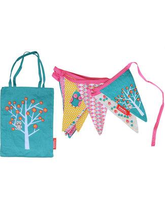 Engel Bibi Mini Bunting + matching bag - 100% Cotton (3.5 meters long) Bunting