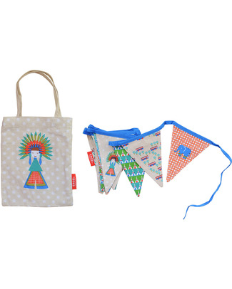 Engel Chief Mini Bunting + matching bag - 100% Cotton (3.5 meters long) Bunting