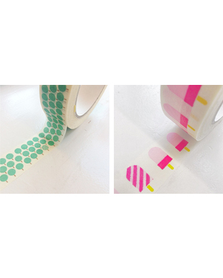 Engel Eco Washi Paper Tape with Ice Creams and Trees - 50 meters Wall Stickers