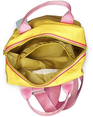 Engel Large Retro-Style Backpack, Zipper Yellow 26 x 11 x 35 cm - Eco-Friendly! Large Backpacks