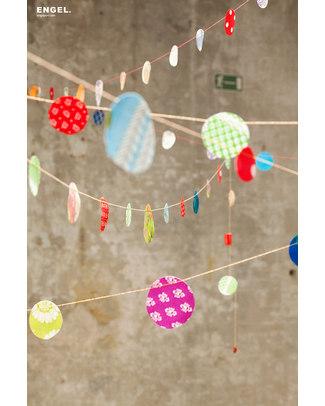 Engel Retro Confetti Garland - 100% natural cotton (length 5 metres) Bunting