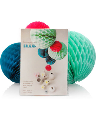Engel Set of 3 Ocean Honeycomb Spheres - Tissue Paper Bunting