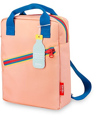 Engel Small Retro-Style BackPack, Zipper Pink 22 x 28 x 7 cm - Eco-Friendly! Small Backpacks