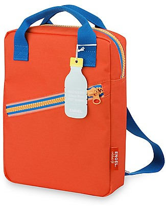 Engel Small Retro-Style BackPack, Zipper Red 22 x 28 x 7 cm - Eco-Friendly! Small Backpacks