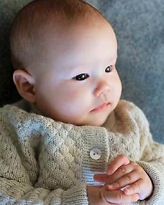 Esencia Cardigan Hanna (6 months), Ivory - 100% Alpaca wool Cardigans