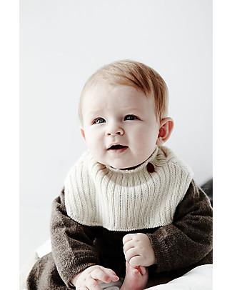 Esencia Collar Condo with Ladybug, Ivory – 100% alpaca wool Scarves And Shawls