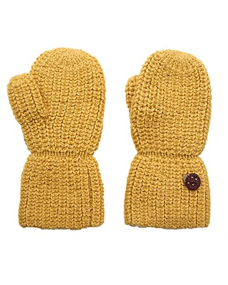 Esencia Mittens with Ladybug, Amber – 100% Alpaca wool Gloves e Mittens