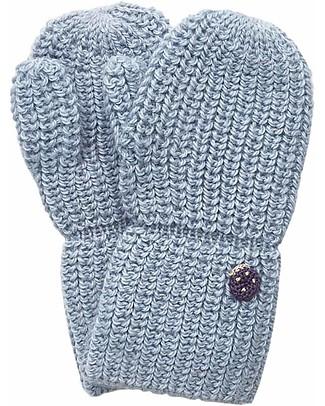 Esencia Mittens with Ladybug, Aqua – 100% Alpaca wool Gloves e Mittens