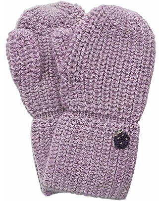 Esencia Mittens with Ladybug, Rosa - 100% Alpaca wool Gloves e Mittens