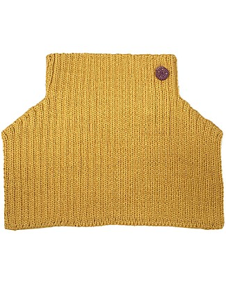 Esencia Mondo Collar with Ladybug, Amber (1-2 and 3-4 years) – 100% Alpaca wool Scarves And Shawls