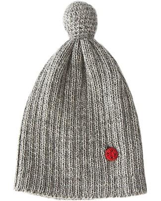 Esencia PomPom Hat with Ladybug, Dove (1-2 and 3-4 years) – 100% Alpaca wool Hats