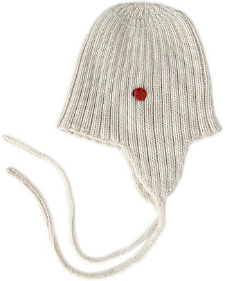 Esencia String Hat with Ladybug, Ivory (1-2 and 3-4 years) – 100% Alpaca wool Hats