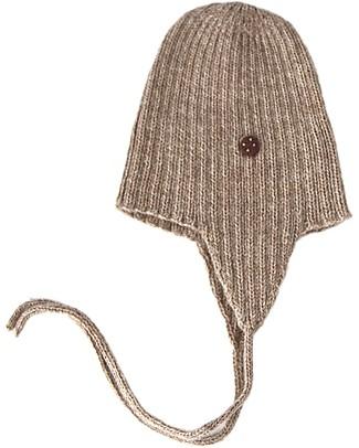 Esencia String Hat with Ladybug, Pebble (1-2 and 3-4 years– 100% Alpaca wool Hats
