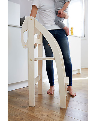 "Ettomio Foldable Montessori Learning Tower ""La Taue"" - Can be folded with one hand! Montessori Towers"