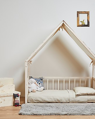 "Ettomio House-shaped Montessori bed ""Aande"" - 140x70 cm Montessori Beds"