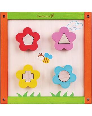 EverEarth 5 in 1 Activity Cube - Hand to Eye Coordination - FSC Certified Wood! Story Making Games