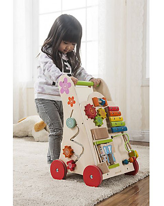 EverEarth Activity walker - To Learn Walking  - FSC Certified Wood! Wooden Push & Pull Toys