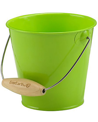 EverEarth Garden Bucket - Green - Certified Wood Gardening Toys