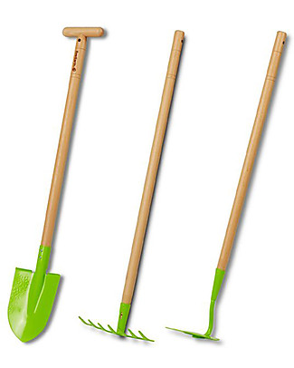 EverEarth Garden Spade - Green - Certified Wood Gardening Toys
