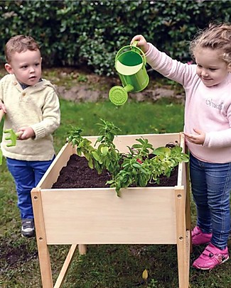 EverEarth Gardening Table - Closer to Nature Through Play - Organic Wood Gardening Toys