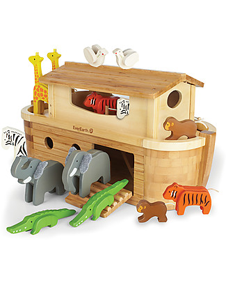 EverEarth Giant Noah's Ark - Hand to Eye Coordination - FSC Certified Wood! Story Making Games