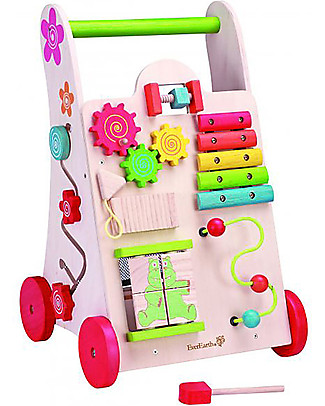 EverEarth OUTLET - Activity walker - To Learn Walking  - FSC Certified Wood! Wooden Push & Pull Toys
