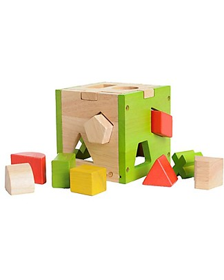 EverEarth Shape Sorter - Hand to Eye Coordination - FSC Certified Wood! Wooden Stacking Toys
