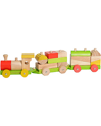 EverEarth Sorting Train Blocks - Motor Skills - High Quality FSC Wood! Wooden Toy Cars, Trains & Trucks