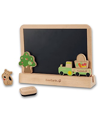 EverEarth Two Sided Drawing Tablet - Imagination and Creativity - FSC Certified Beech Colouring Activities