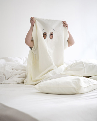 Fabelab Dream-In-Ghost Duvet Cover (70 x 100 cm) + Pillow Case + Bag in 100% Organic Cotton Duvet Sets