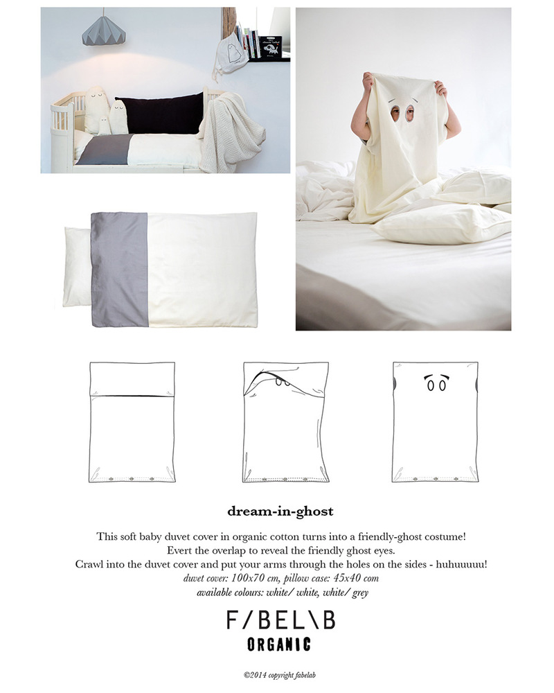 Copripiumino Picci.Fabelab Dream In Ghost Duvet Cover 70 X 100 Cm Pillow Case