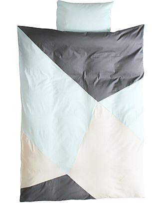 Fabelab Sleepy Jade - Duvet Set and Pillow Case - Twin Bed - 100% Organic Cotton  Swaddles