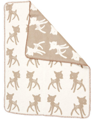 Fabulous Goose Beige Bambi Baby Blanket - 100% Brushed Fleecy Cotton - 75x100 cm Blankets
