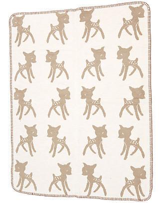 Fabulous Goose Beige Bambi Blanket - 100% Brushed Fleecy Organic Cotton - 120x150 cm Blankets